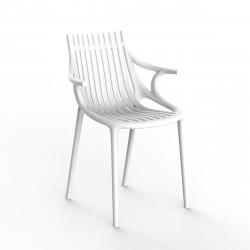 Chaise Ibiza à barreaux avec accoudoirs, Vondom blanc