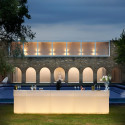 Bar Cordiale lumineux, module droit, coloris vanille, Slide Design, L120 x P70 x H110 cm