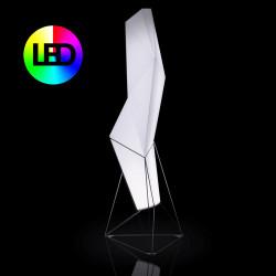 Lampadaire design Faz, Vondom, éclairage Led RGBW, intérieur extérieur