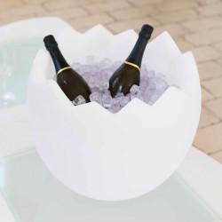 Seau à Champagne Kalimera laqué, Slide Design Blanc