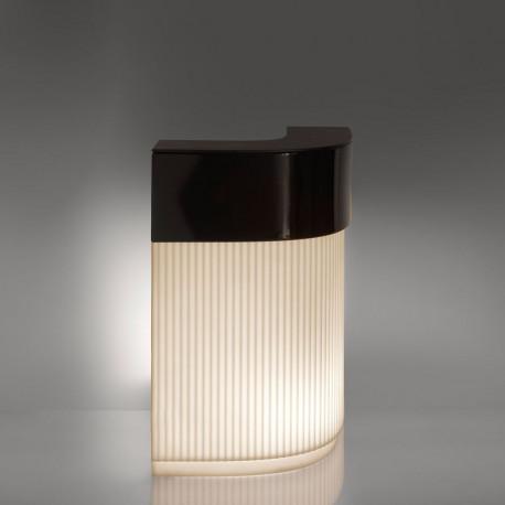 Bar Cordiale Corner lumineux, édition Art Déco, module d'angle, Slide Design, L70 x P70 x H110 cm