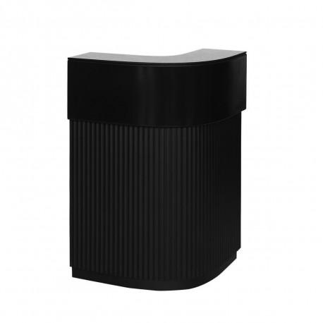 Bar Cordiale Corner noir, module d'angle, Slide Design, L70 x P70 x H110 cm