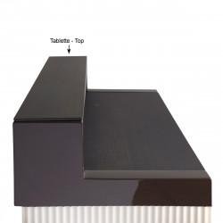 Tablette Cordiale Top, HPL effet bois wengé, pour module droit de bar Cordiale, Slide Design