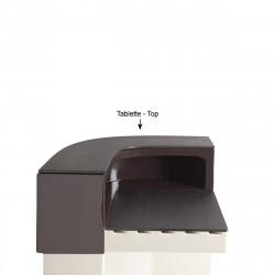 Tablette Cordiale Corner Top, HPL effet bois wengé, pour module d\'angle de bar Cordiale, Slide Design