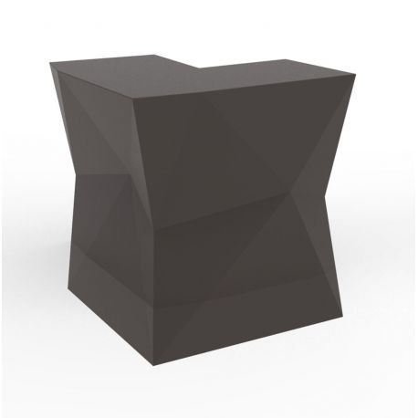 Banque d'accueil Origami, élément d'angle, Proselec bronze Mat
