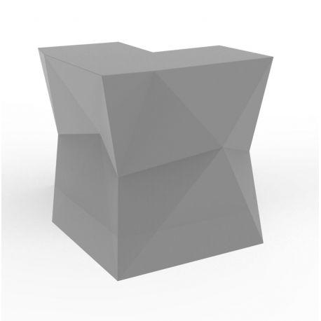 Banque d'accueil Origami, élément d'angle, Proselec acier Mat