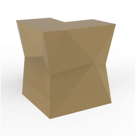 Banque d'accueil Origami, élément d'angle, Proselec beige Mat