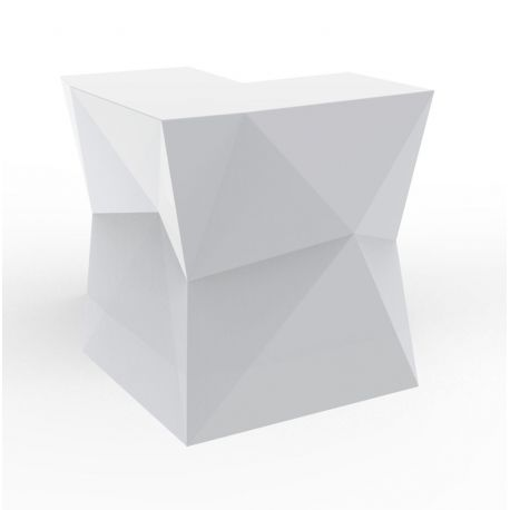 banque d accueil origami element d angle proselec blanc laque