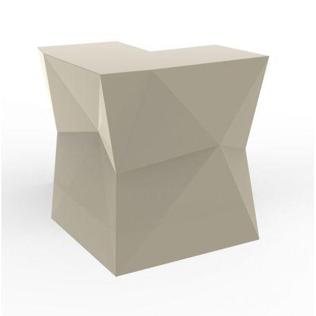 Banque d'accueil Origami, élément d'angle, Proselec écru Laqué
