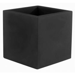 Pot de fleur Carré 80x80x80 cm, noir, simple paroi, Vondom