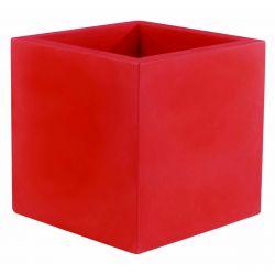 Pot de fleur Carré 80x80x80 cm, rouge, simple paroi, Vondom