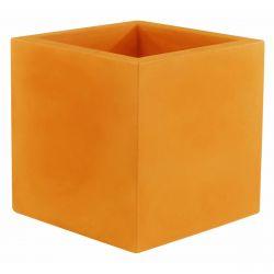 Pot de fleur Carré 80x80x80 cm, orange, simple paroi, Vondom
