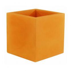 Pot Carré 60x60x60 cm, orange, simple paroi, Vondom