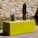 Jardinière grande taille, laquée orange brillant, Vondom, Longueur 120x50xH50 cm