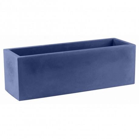 Jardinière rectangulaire grande taille Jardinera bleu marine Vondom, simple paroi, Longueur 120x50xH50 cm
