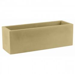 Jardinière rectangulaire 100 cm beige, Jardinera 100, Vondom, simple paroi, Longueur 100x40xH40 cm