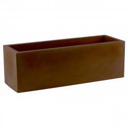 Jardinière rectangulaire 100 cm bronze, Jardinera 100, Vondom, simple paroi, Longueur 100x40xH40 cm