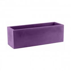 Jardinière design rectangulaire 80 cm violet prune, Jardinera 80, Vondom, simple paroi, Longueur 80x30xH30 cm