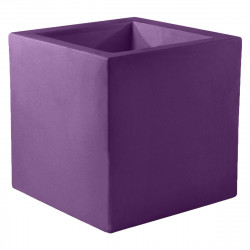 Pot de fleur Carré 80x80x80 cm, violet prune, simple paroi, Vondom