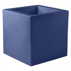 Pot de fleur Carré 80x80x80 cm, bleu marine, simple paroi, Vondom