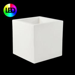 Pot Cubo lumineux Leds RGBW 40x40x40 cm, Vondom, double paroi