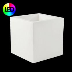 Pot Cube lumineux Leds RGBW 50x50x50 cm, Vondom, double paroi