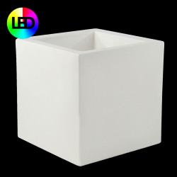 Pot Carré lumineux Leds RGBW 60x60x60 cm, Vondom, double paroi