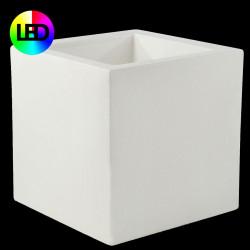 Pot de fleur Carré lumineux Leds RGBW 80x80x80 cm, Vondom, double paroi