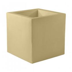 Pot Carré 60x60x60 cm, beige, simple paroi, Vondom