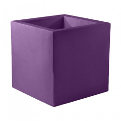 Pot Carré 60x60x60 cm, violet prune, simple paroi, Vondom