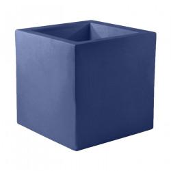 Pot Carré 60x60x60 cm, bleu marine, simple paroi, Vondom