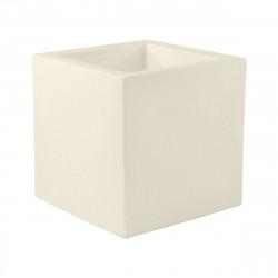 Pot Cube 50x50x50 cm, simple paroi, Vondom, écru