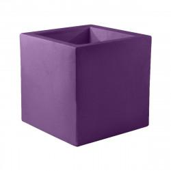 Pot Cube 50x50x50 cm, simple paroi, Vondom violet prune
