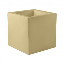 Pot Cube 50x50x50 cm, simple paroi, Vondom, beige