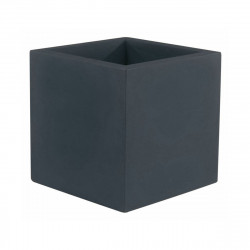 Pot Cube 50x50x50 cm, simple paroi, Vondom anthracite
