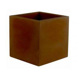 Pot Cube 50x50x50 cm, simple paroi, Vondom bronze