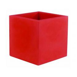 Pot Cube 50x50x50 cm, simple paroi, Vondom rouge