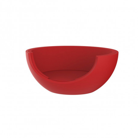 Daybed rond Ulm Moon, Vondom, structure rouge, coussins rouge