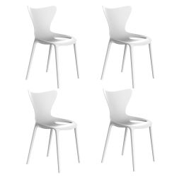 Lot de 4 Chaises Love, Vondom blanc