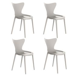 Lot de 4 Chaises Love, Vondom écru