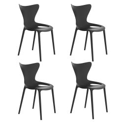 Lot de 4 Chaises Love, Vondom noir