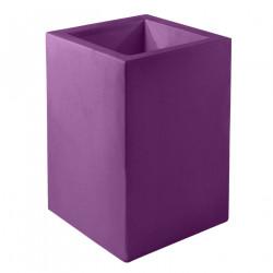 Pot Cubo Alto 40x40xH80 cm, simple paroi, Vondom, violet prune
