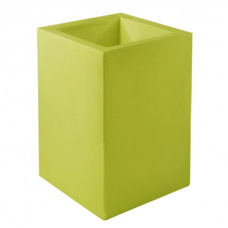Pot Cubo Alto 40x40xH80 cm, simple paroi, Vondom, vert pistache