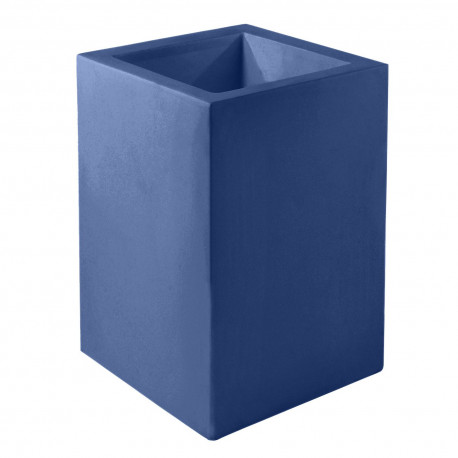 Pot Cubo Alto 40x40xH80 cm, simple paroi, Vondom, bleu marine