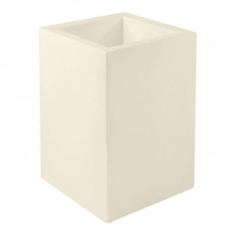 Pot Cubo Alto 40x40xH80 cm, simple paroi, Vondom, écru