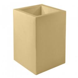 Pot Cubo Alto 40x40xH80 cm, simple paroi, Vondom, beige