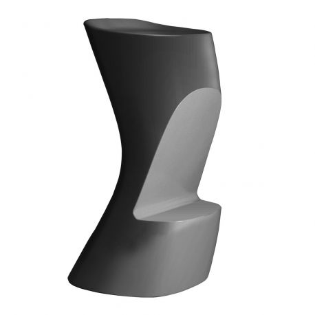 Tabouret de bar Moma High, hauteur d'assise 74 cm, Vondom anthracite