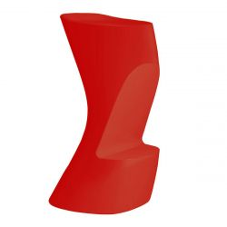 Tabouret de bar Moma High, hauteur d\'assise 74 cm, Vondom rouge