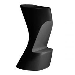 Tabouret de bar Moma High, hauteur d\'assise 74 cm, Vondom noir