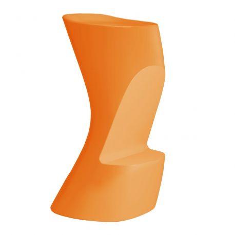 Tabouret de bar Moma High, hauteur d'assise 74 cm, Vondom orange